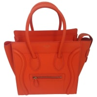 CelineHandtasche Luggage Leder Orange - aus zweiter Hand
