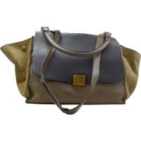 CelineTrapèze Leder handtaschen - aus zweiter Hand