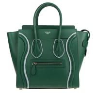 CelineTasche - Luggage Tote Bag Felt Micro Light Emerald - in grün - Henkeltasche für Damen