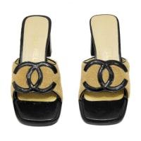 Chanel1990s Chanel Ponyhair High Heel Slides