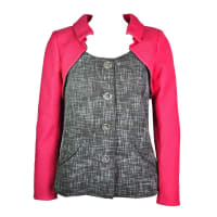 Chanel2014 S/s Multi-color Cotton Tweed Jacket New Fr36