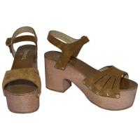 Chanel2015 Spring Platform Sandals Sz 40