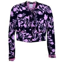 ChanelBeautiful Chanel Terry Pink/black Jacket 38
