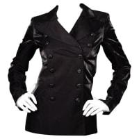 ChanelBlack Iridescent Double Breasted Tuxedo Jacket Sz 34