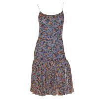 ChanelCirca 1980s Print Drop Waist Chiffon Dress