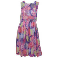 ChanelRecent Collection Floral Print Chiffon Dress