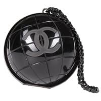 ChanelVery Rare Chanel Limited Edition Runway cc Logo Black globe Minaudière