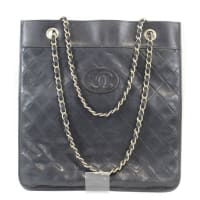 ChanelVintage Chanel Extra Slim Black Calfskin Bag