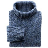 CHARLES TYRWHITTMouline Pullover mit Rollkragen in blau