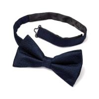 CHARLES TYRWHITTNavy silk classic plain ready-tied bow tie