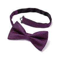 CHARLES TYRWHITTPurple silk classic plain ready-tied bow tie