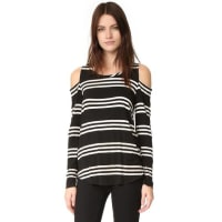 ChaserLong Sleeve Cold Shoulder Tee - Stripe