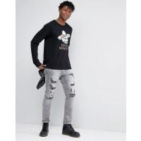 Cheap MondaySkull Hat Sweater - Black
