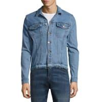 Cheap MondayStable Denim Fringe-Trim Jacket, Blue