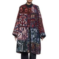 ChloéLong-Sleeve Blanket Coat, Multi Colors