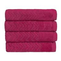 ChristyChevron Towel - Raspberry - Bath Sheet