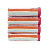 ChristyPortobello Stripe Towel - Deep Pink - Bath Towel
