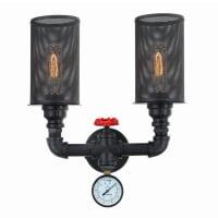 CLA LightingCarbon Filament Wall Light Twin E27 25W in 33cm Veneto CLA Lighting