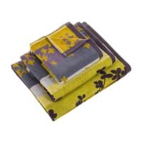 Clarissa HulseScattered Petals Towel - Sulphur - Bath Towel