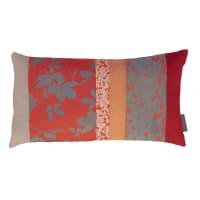 Clarissa HulseVirginia Creeper Patchwork Bed Cushion - 30x50cm - Tiger Lily/Storm
