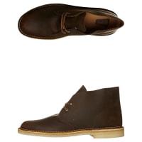 ClarksMens Desert Leather Boot Brown