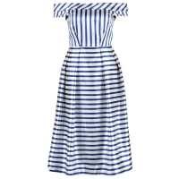 ClosetKorte jurk blue/white