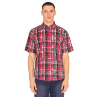 ClotOverlapped Pattern Checker Shirt in Pink