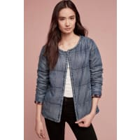 Cloth & StoneQuilted Plaid-Lined Car Coat