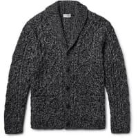 Club MonacoShawl-collar Cable-knit Cardigan - Anthracite