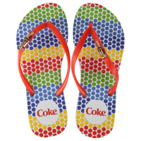 Coca Cola WareChinelo Coca-Cola Color Dots - Feminino
