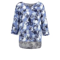 CommaKlassieke bloezen blue