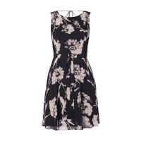 CommaKleid mit floralem Muster und Taillengürtel