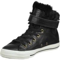 ConverseAll Star Brea Leather Fur Hi W Sneaker Schuhe schwarz schwarz