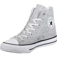 ConverseAll Star Sparkle Knit Hi W Sneaker Schuhe grau silber weiß grau silber weiß