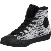 ConverseAll Star Winter Knit Fur Hi W schoenen zwart wit