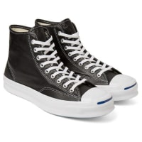 ConverseJack Purcell Signature Leather High-top Sneakers - black