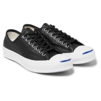 ConverseJack Purcell Signature Perforated Leather Sneakers - Black