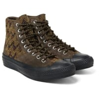Converse+ Missoni All Star Chuck 70 Hiker Bouclé And Suede Sneakers - Chocolate