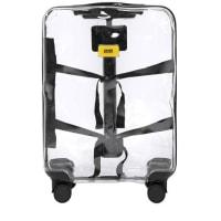 Crash BaggageTROLLEY TRASPARENTE 4 RUOTE 43L