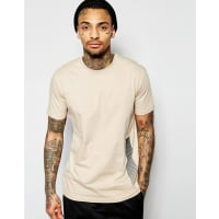 Criminal DamageT-Shirt With Backprint - Beige
