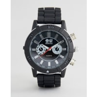 CrosshatchBlack Watch with Imitation Inner Dials - Black