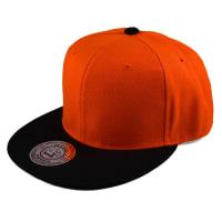 Crown CapsOrange/Svart Snapback Cap