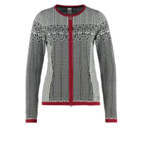 Dale of NorwaySIGRID Cardigan black/off white/red rose