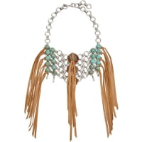 DannijoIpsa Oxidized Silver-plated, Bead And Suede Necklace - one size