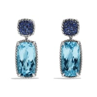 David YurmanChatelaine Drop Earrings with Blue Topaz and Blue Sapphires