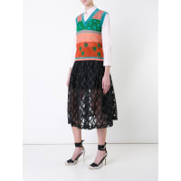 Delpozometallic knit vest, Womens, Size: Medium, Yellow/Orange, Metallized Polyester/Polyester/Polyamide/Cotton