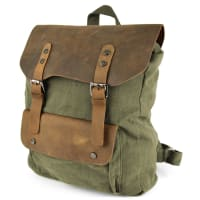 Delton BagsBrauner Pull-up Canvas Rucksack