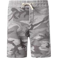 Denim & SupplyHerren Sweatshorts Baumwoll-Mix camouflage grau