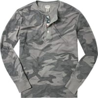 Denim & SupplyHerren T-Shirt Longsleeve Baumwolle grau camouflage