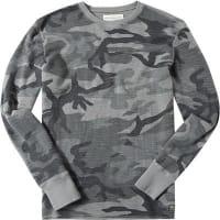 Denim & SupplyHerren T-Shirt Longsleeve Baumwolle grau gemustert